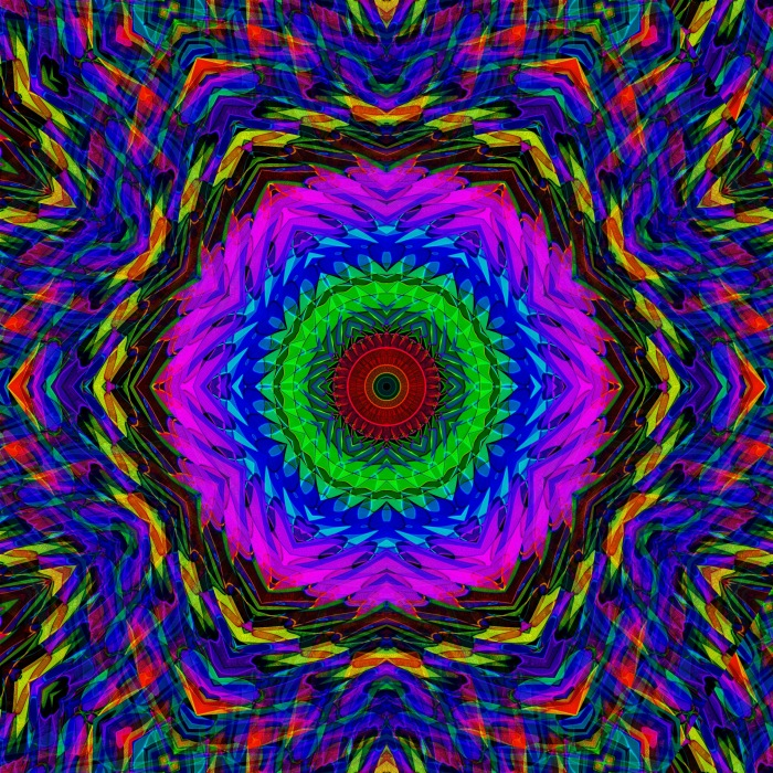 """Eye Focus"" geometric pattern mandala from AMECYLIA"