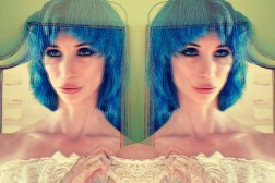 Amecylia Mirror Blue Eyes Blue Hair