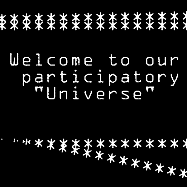 """Welcome to our participatory Universe"" AMECYLIA"